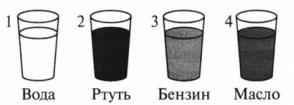 Четыре одинаковых стакана