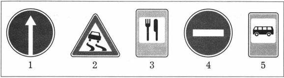 Изображения дорожных знаков